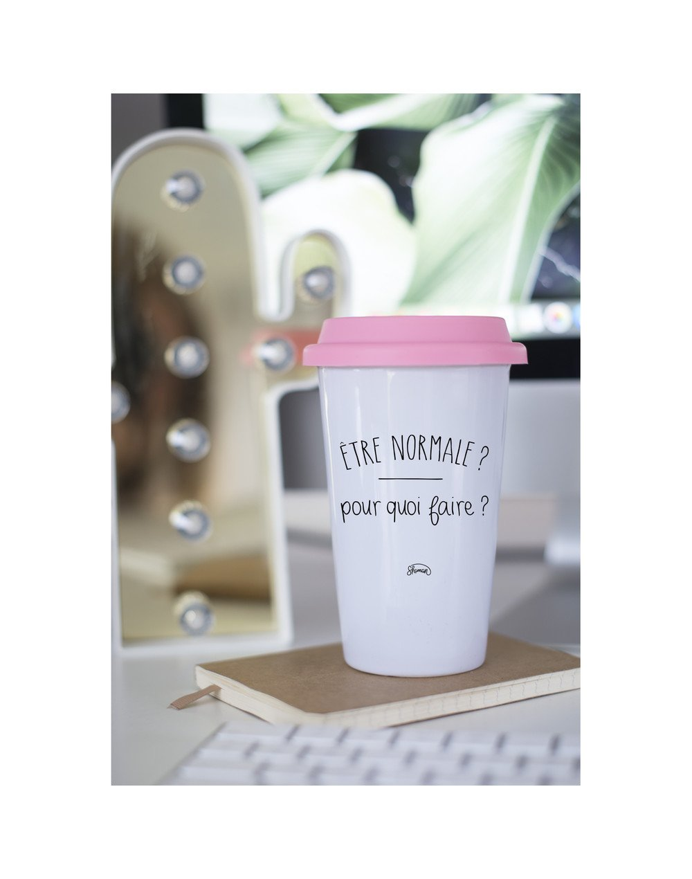 """Mugs Take Away """"Normale pourquoi"""""""