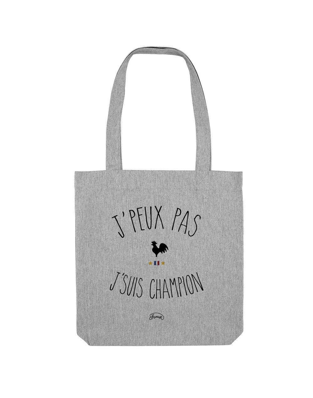 "Tote Bag ""J'peux pas champion"""