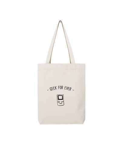 """Tote Bag """"Geek for ever"""""""
