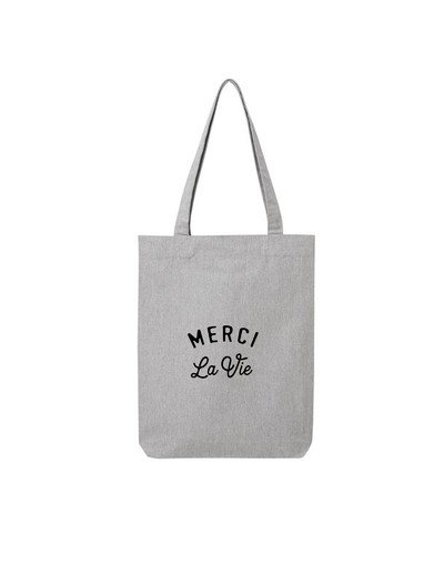 "Tote Bag ""Merci la vie"""
