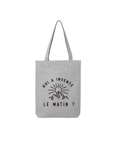 """Tote Bag """"Inventé le matin"""""""
