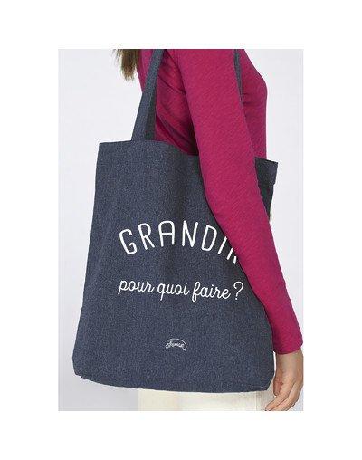 "Tote Bag ""Grandir pour quoi"""