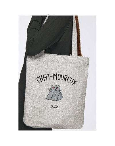 """Tote Bag """"Chat-moureux"""""""