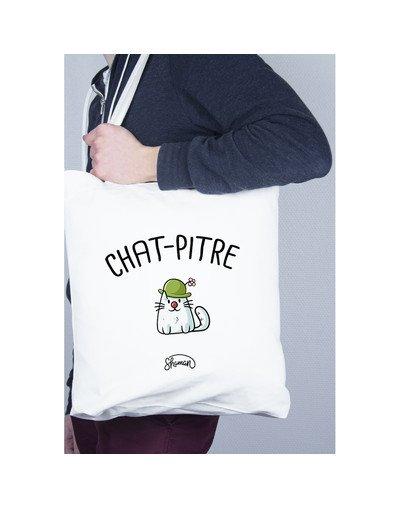 "Tote Bag ""Chat-pitre"""