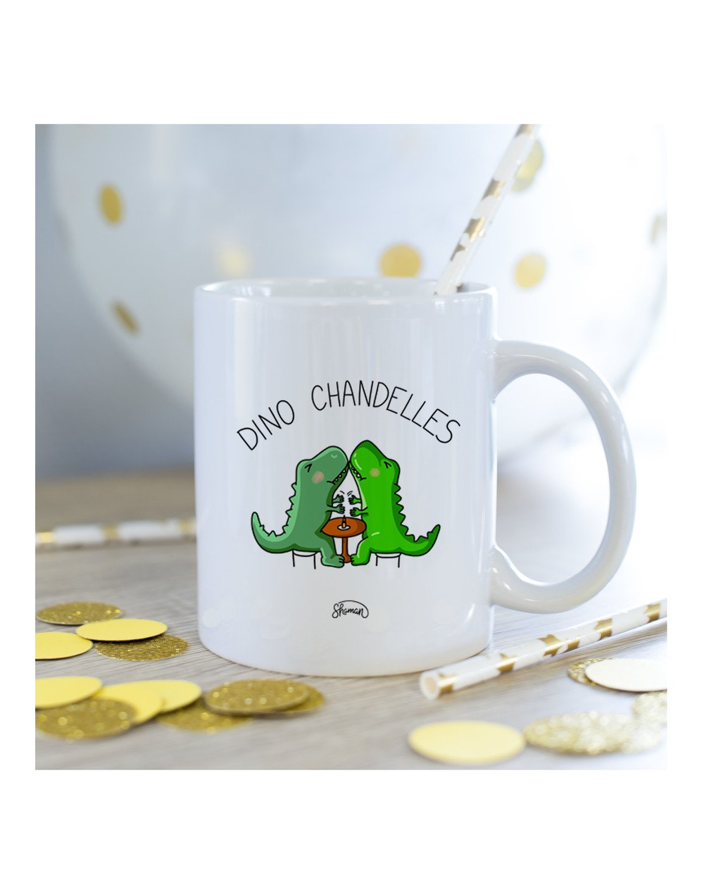 Mug Dino chandelle