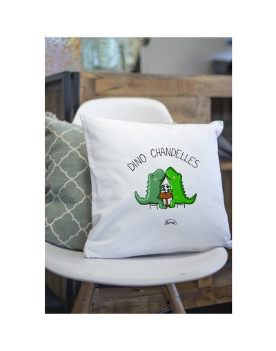 """Coussin """"Dino Chandelle"""""""