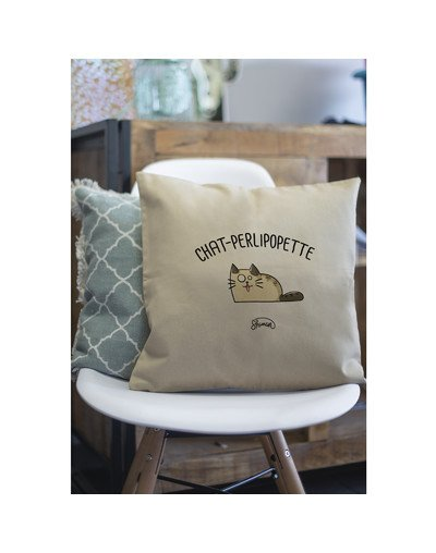 """Coussin """"Chat-perlipopette"""""""