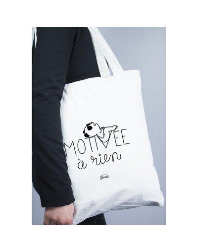 """Tote Bag """"Motivée à rien"""""""