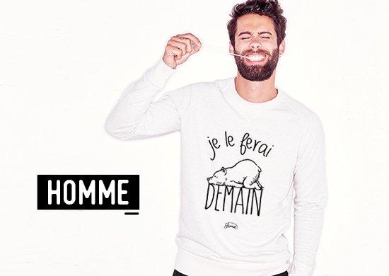 Boutique LE FABULEUX SHAMAN marque de Sweat et Tee shirt à messages ... e4bd8e32638